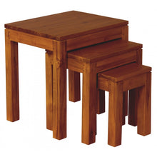 Sweden Teak Nest of Table Set of 3 ( Light Pecan Colour )