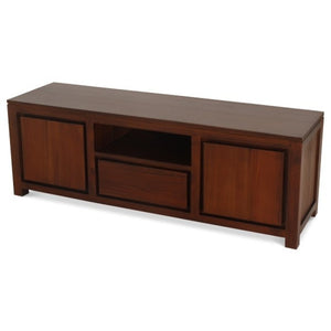 Sweden Teak TV Console  2 Door 1 Drawer Entertainment Unit ( Light Pecan Colour )
