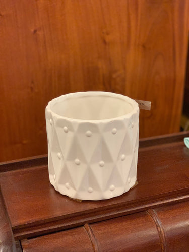 DSO Ceramic Vase Crown Design 12cm Diameter x 11 cm Height