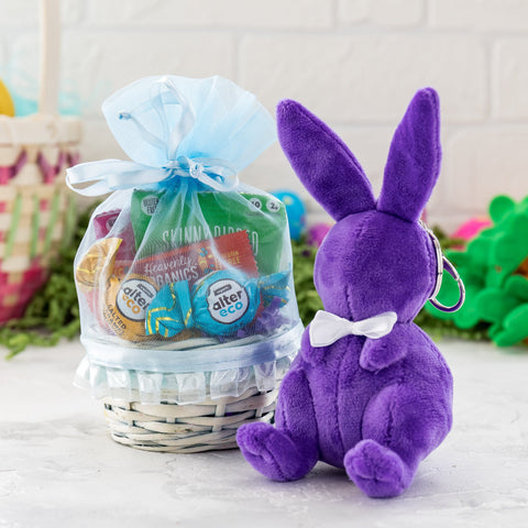 Premium Easter Basket With Plush Bunny