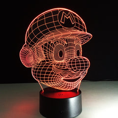 Super Mario 3D LED Night Light - [Buy the best Gadgets and Smartwatches 2018 for Kids, Men and Women] - [Factor Gadgets]