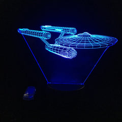 Star Trek USS 3D Led Night Lamp - [Buy the best Gadgets and Smartwatches 2018 for Kids, Men and Women] - [Factor Gadgets]