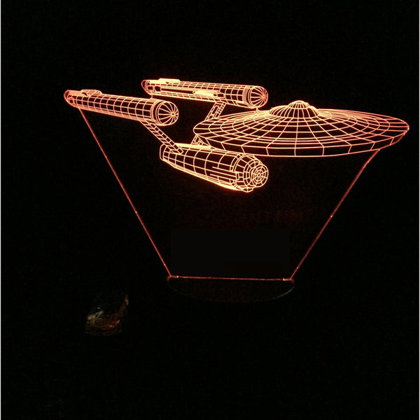 Star Trek USS 3D Led Night Lamp - Factor Gadgets