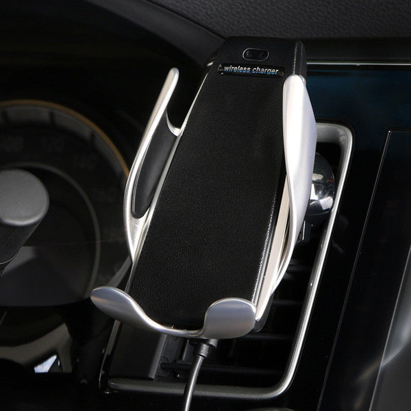 Automatic Clamping Qi Wireless Car Charger Mount With 360 Degree Rotation