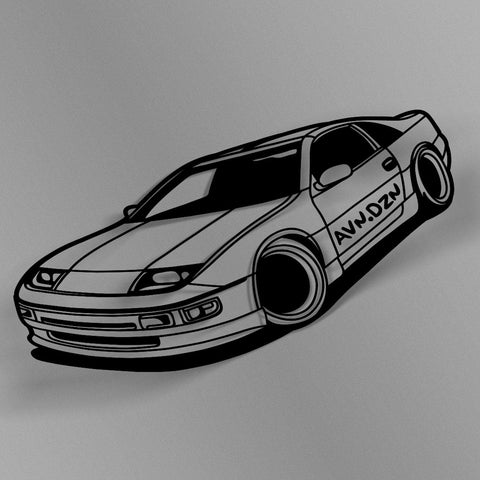 avn.dzn Decal Gloss Black 300ZX Outline Die Cut