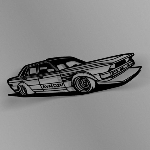 avn.dzn Decal Gloss Black Bosozoku Outline Die Cut