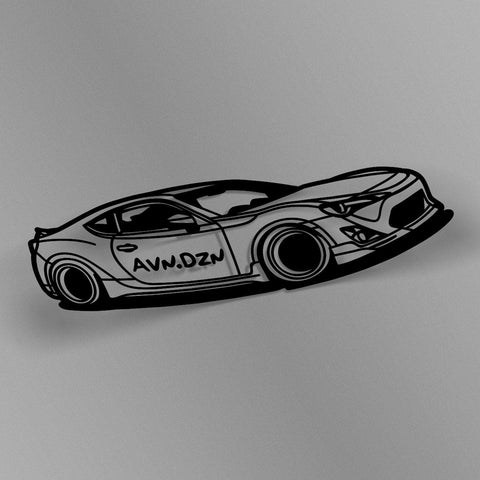 avn.dzn Decal Gloss Black BRZ/FRS Outline Die Cut