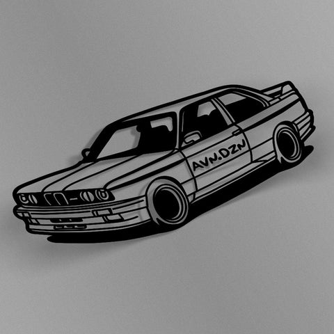 avn.dzn Decal Gloss Black E30 M3 Outline Die Cut