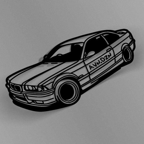 avn.dzn Decal Gloss Black E36 M3 Outline Die Cut