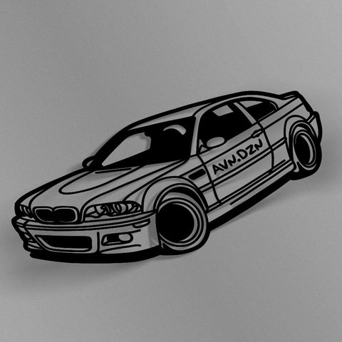 avn.dzn Decal Gloss Black E46 M3 Outline Die Cut