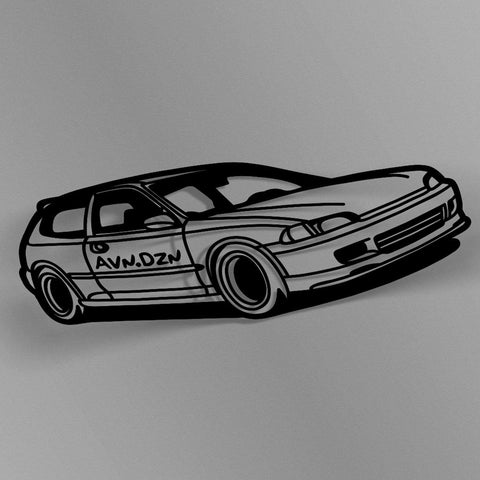 avn.dzn Decal Gloss Black EG Hatch Outline Die Cut