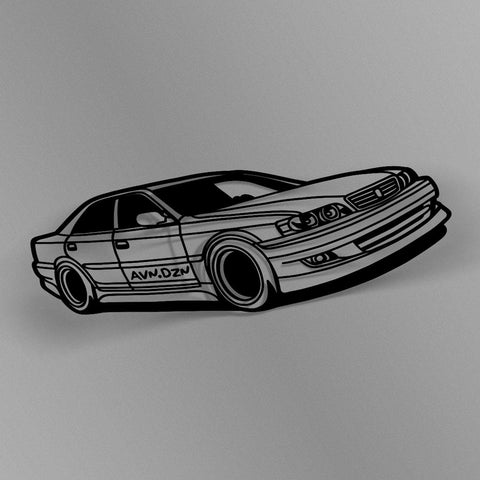 avn.dzn Decal Gloss Black JZX100 Chaser Outline Die Cut