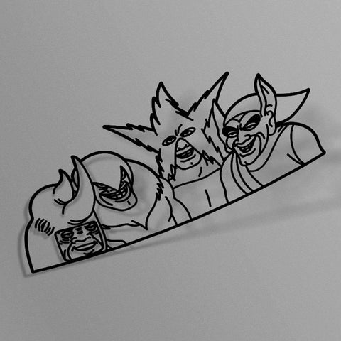 avn.dzn Decal Gloss Black Me and the Boys Peeker Die Cut