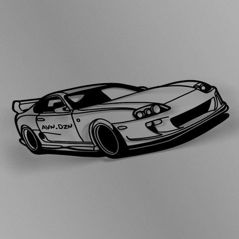 avn.dzn Decal Gloss Black MK4 Supra Outline Die Cut