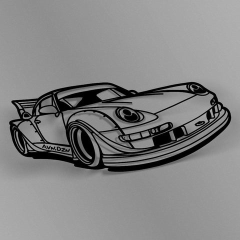 avn.dzn Decal Gloss Black RWB Outline Die Cut