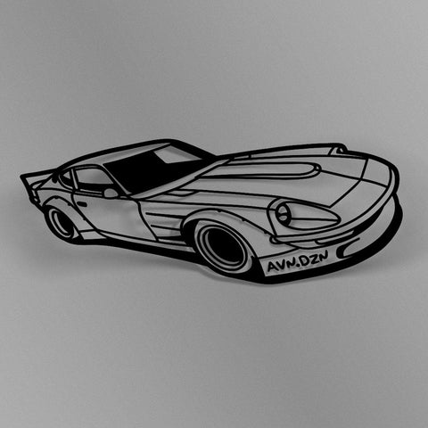 avn.dzn Decal Gloss Black Shakotan Z Outline Die Cut