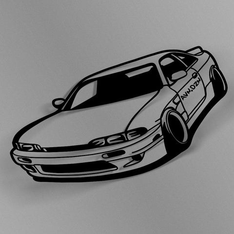 avn.dzn Decal Gloss Black Zenki 240SX Outline Die Cut