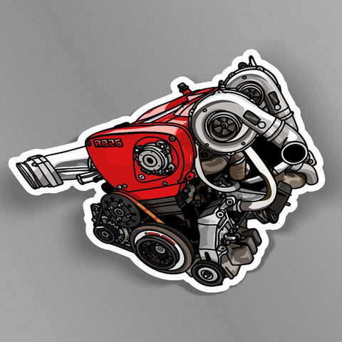 avn.dzn POD Decal RB26 Red Engine Slap