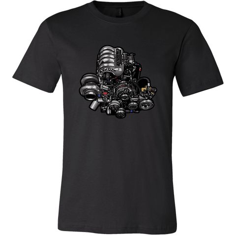 teelaunch T-shirt Canvas Mens Shirt / Black / S 20B Tee
