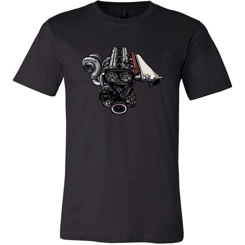teelaunch T-shirt Canvas Mens Shirt / Black / S 2JZ Tee