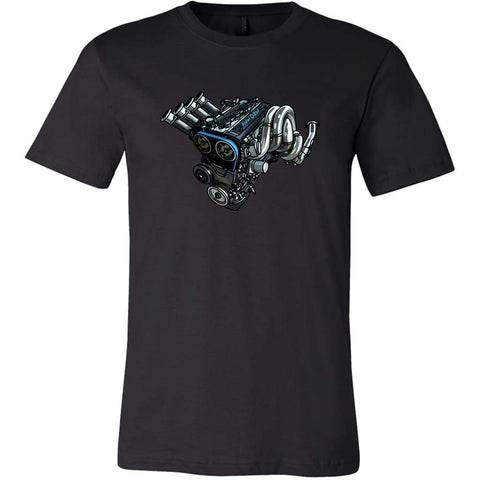 teelaunch T-shirt Canvas Mens Shirt / Black / S 4AGE Tee