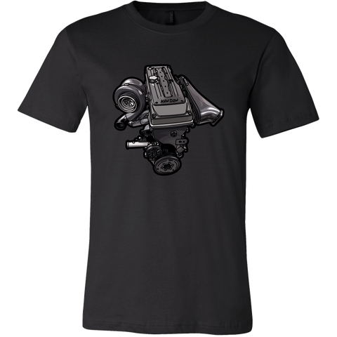 teelaunch T-shirt Canvas Mens Shirt / Black / S Barra Tee