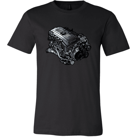 teelaunch T-shirt Canvas Mens Shirt / Black / S N54B30 Tee