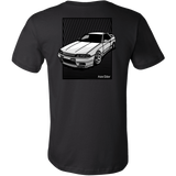 teelaunch T-shirt Canvas Mens Shirt / Black / S R32 Back Print Tee/Hoodie