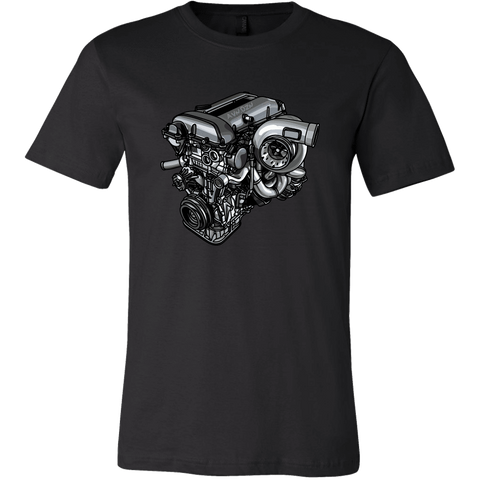 teelaunch T-shirt Canvas Mens Shirt / Black / S SR20 Tee