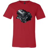 teelaunch T-shirt Canvas Mens Shirt / Red / S N54B30 Tee