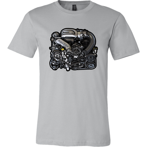 teelaunch T-shirt Canvas Mens Shirt / Silver / S 13B-REW Tee