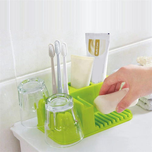 1 Set Bathroom Washable Storage Rack Toothbrush
