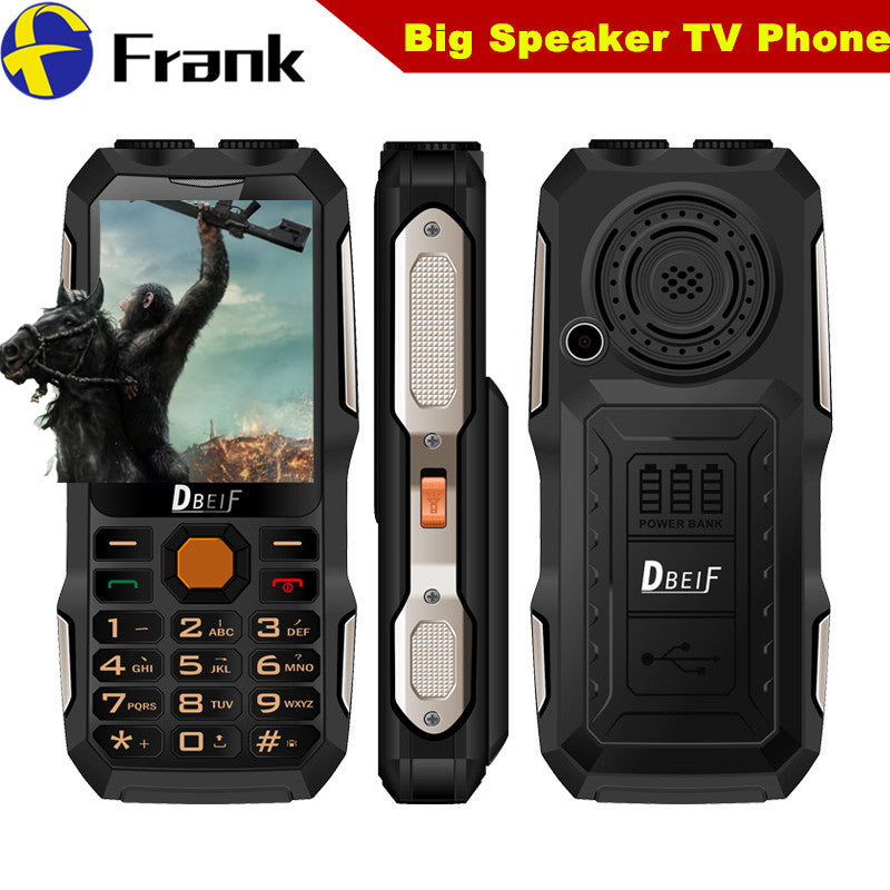 100% Original DBEIF D2016 Dual flashligh Shockproof Mobile Phone Analog TV Function 2.8 inch Screen Dual SIM Dual Torch Phone