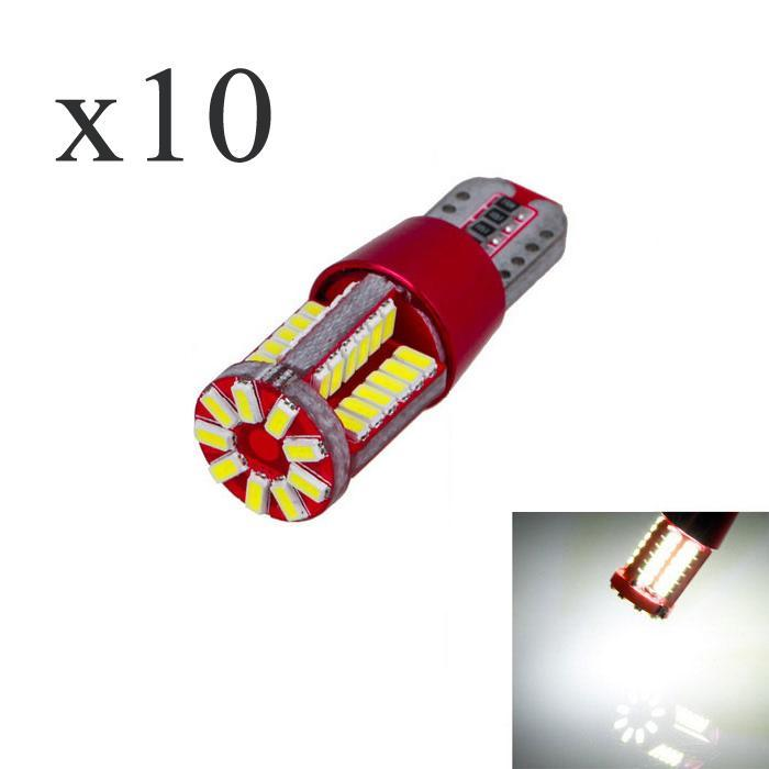 10Pcs T10 12V W5W 3014 15W 6000K Cars From Canbus Led Light-Emitting Diodes  Independent Led Bulb No Errors Univ era Auto Lamp