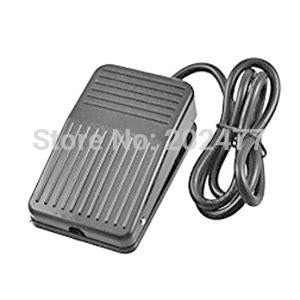 10pc/lot Black AC220V 1NO 1NC SPDT Momentary Foot Pedal Switch w 100cm  Cable,FS-1
