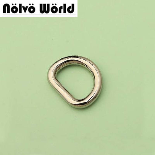 "13X10mm (1.5"" inside) webbing high quality silver welded D Ring for DIY handbags bags purse long strap connector hanger"