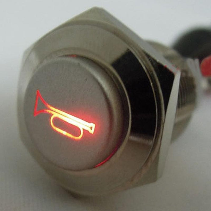 16mm Metal Momentary Push Button Switch LED 3A 250VStainlessLess Steel  Waterproof Car Auto Engine PC Power Start