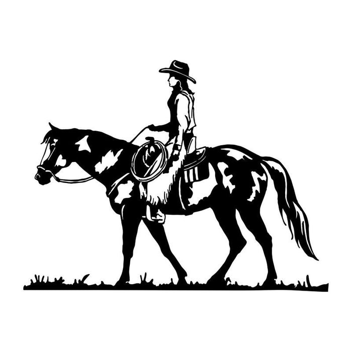 18 513 9cm Wild Rodeo Cowgirl Equestrian Car Stickers Covering The