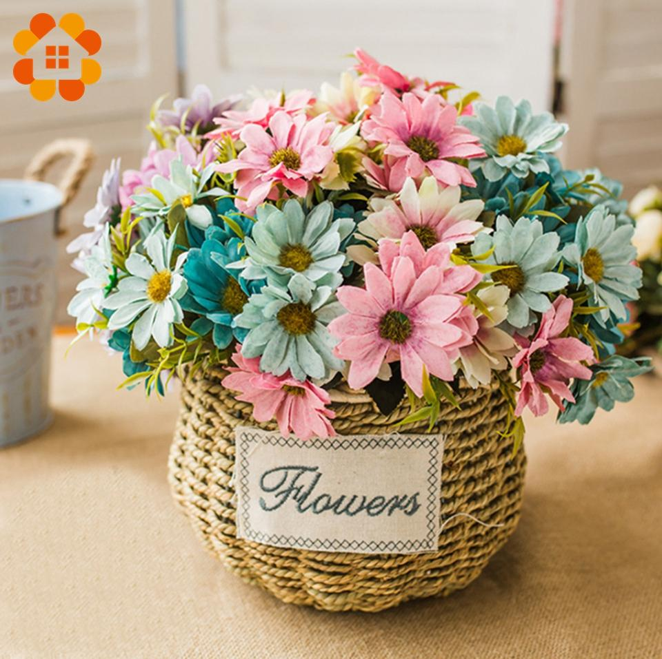 1bouquet 5 Colors Artificial Flowers European Silk Daisy Flower