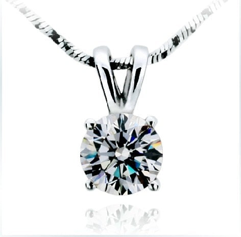 1Carat Excellent VVS1 Clarity Brilliant Round Cut NSCD Lab Made Lovely Diamond Pendant Necklace Equisite Women Body Jewelry