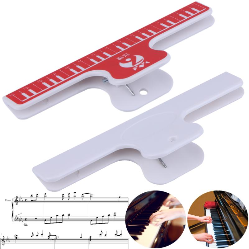 1PCS Music Book Note Ruler Sheet Music Spring Clip Holder For Piano Guitar Violin Viola Cello Performance Practice 15X5CM