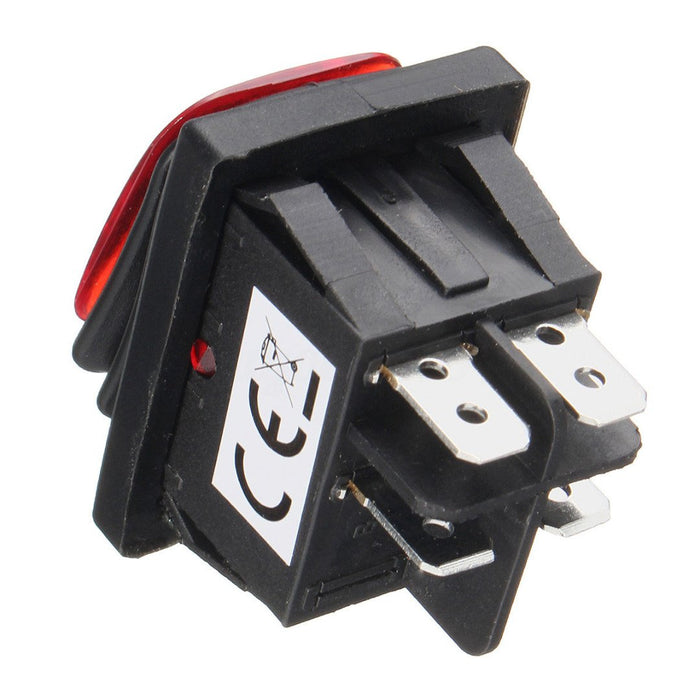 1Pc Car On-Off 4 Pins LED Rocker Toggle Switch Momentary for Auto Boat  Marine Rocker Switch Waterproof Random Color