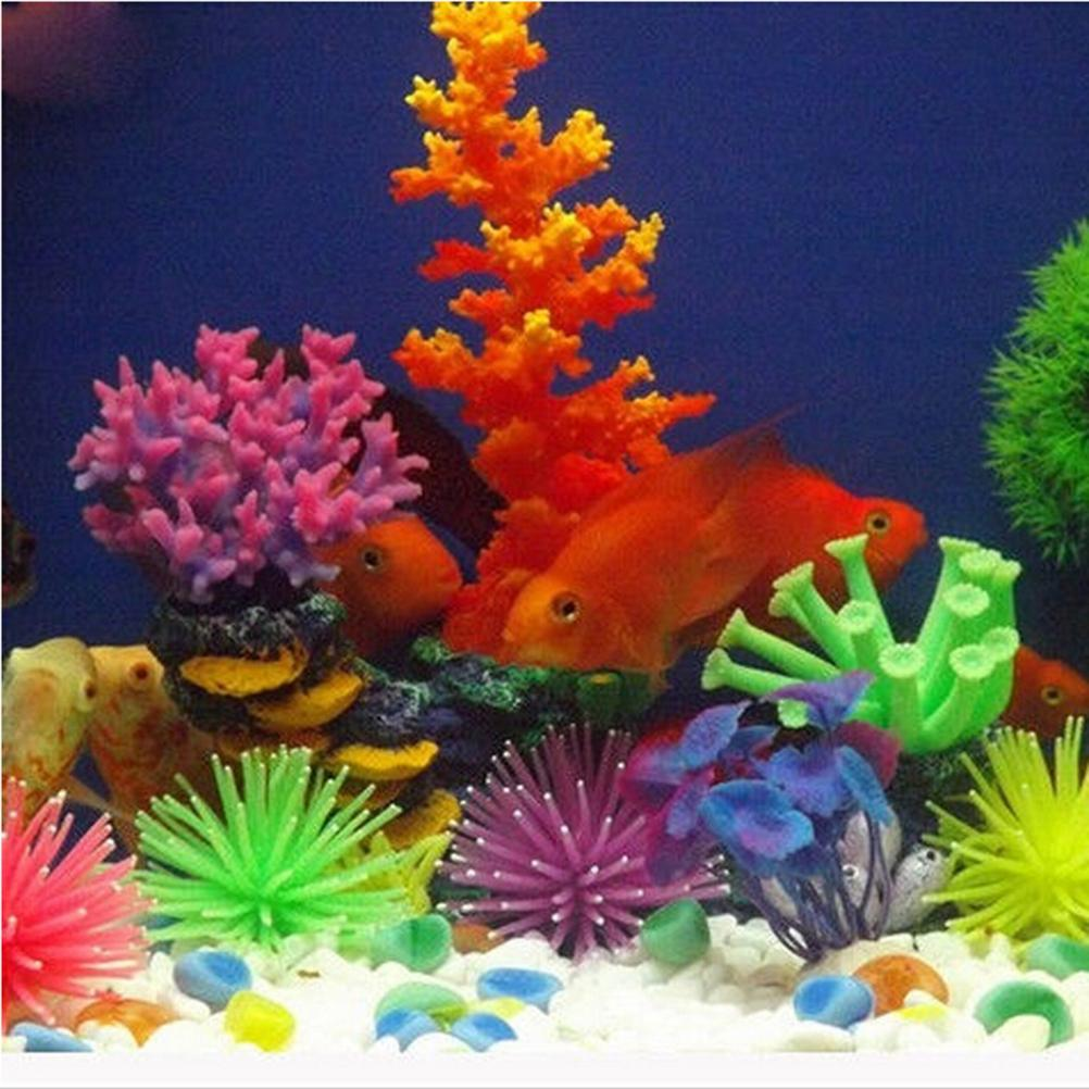 1Pcs Artificial Silicone Fish Tank Aquarium Fake Coral Plant ...