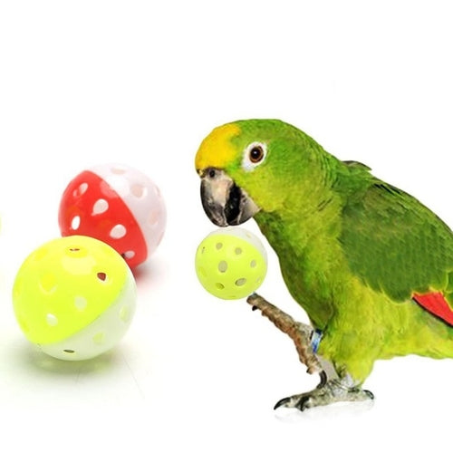 Pet Bird Toys Parrot Toys Hollow Ball With Bells