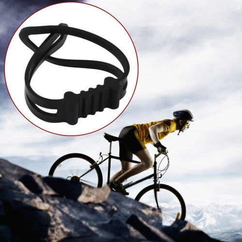 1pcs Universal Silicone Bicycle Flashlight Tie