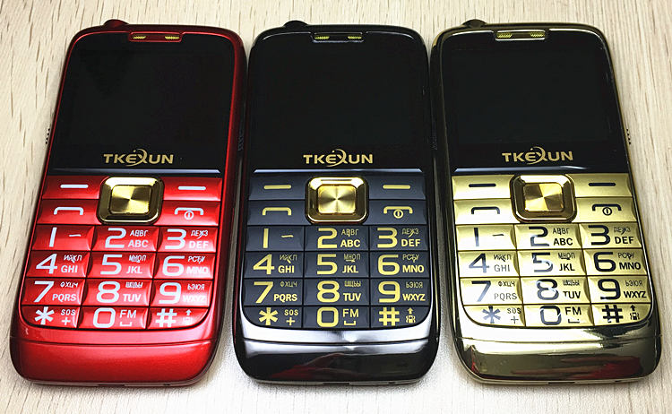 "2.2""  Original TKEXUN E71 Mobile Phone Dual SIM Card  FM radio Big Keyboard   Unlocked flashlight  Russian Keyboard"