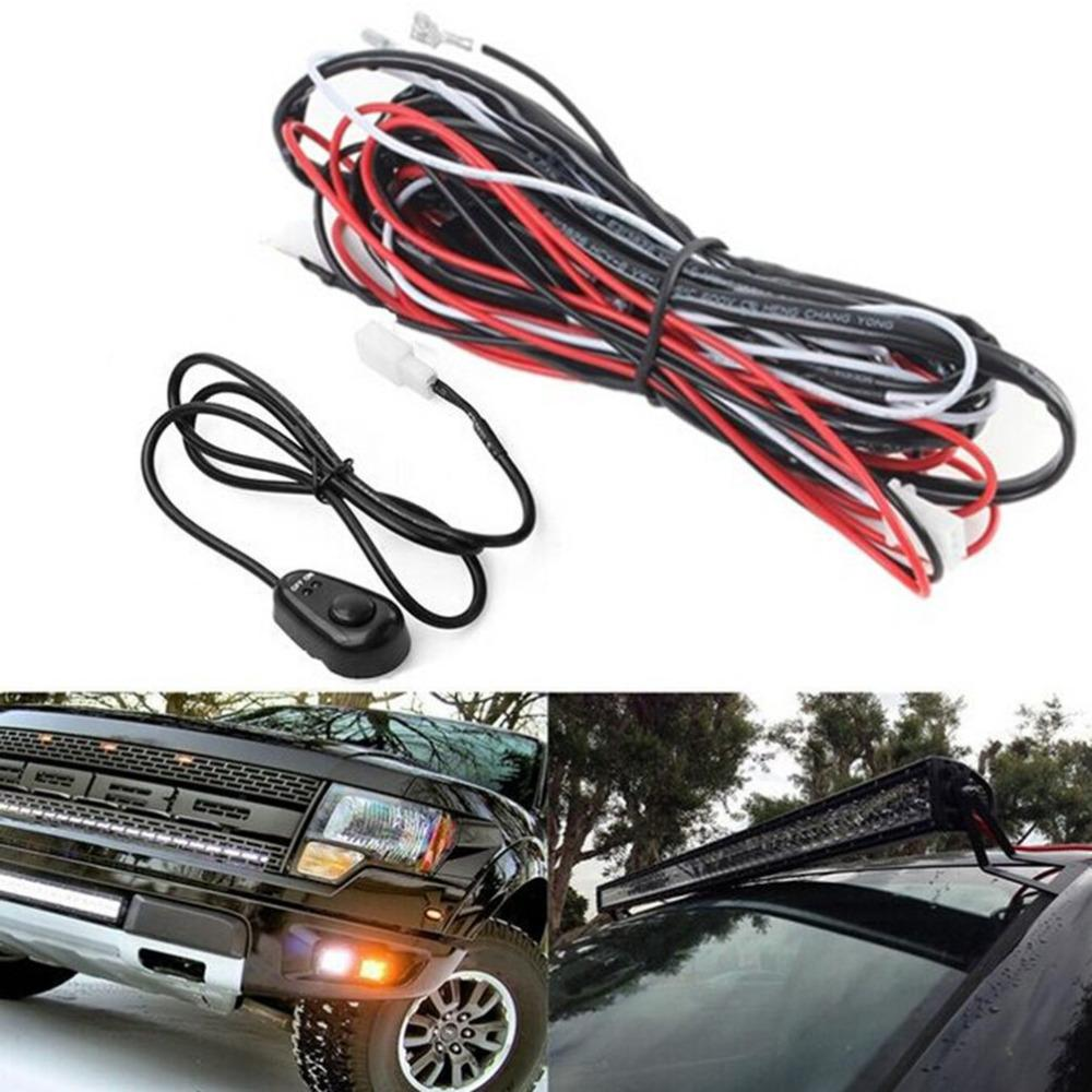 25m Led Hid Driving Wiring Harness Kit Fog Spot Work Light Wire Set Off Road Kits With 12v