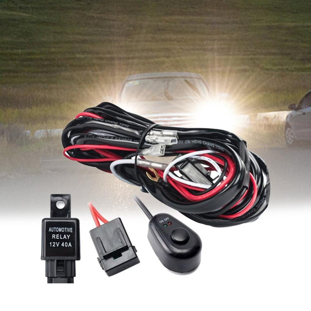 25m Led Hid Driving Wiring Harness Kit Fog Spot Work Light Wire Set With 12v