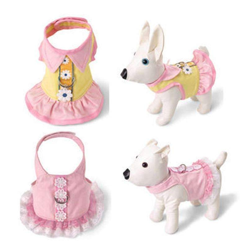 2 Colors Dog Harness Vest Without Leash Very Cute Cotton With Flower