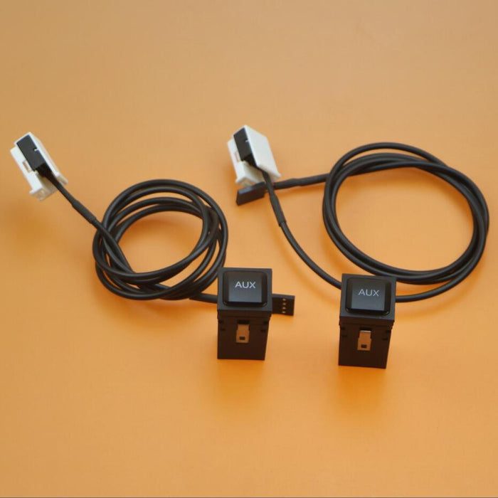 2 Set AUX Switch Plug Adapter + Connection Harness Cable Pigtail For RCD  510 RNS 315 VW Scirocco Jetta 5 Golf 5KD035724A